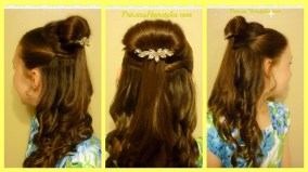Belle Hairstyle Tutorial Beauty And The Beast Inspired Youtube with regard to 23+ Enchanting Princess Hair Styles