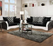 Black And White Sofa And Love Living Room Set inside ucwords]