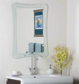 Butterfly Frameless Bathroom Mirror with regard to 24+ Fantastic Frameless Bathroom Mirrors