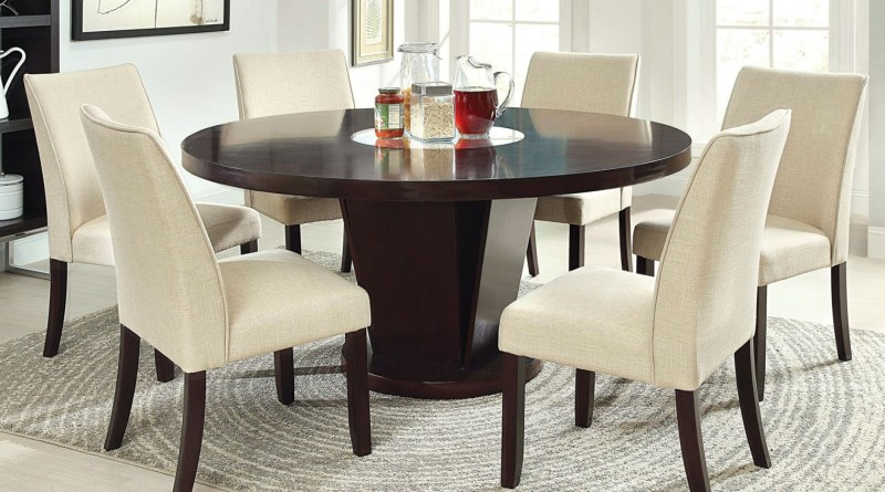 Cm3556 Round Top Solid Wood With Mirror Dining Table Set Espresso pertaining to ucwords]