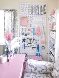 Craft Room Organization Ideas For Small Spaces Happily pertaining to [keyword