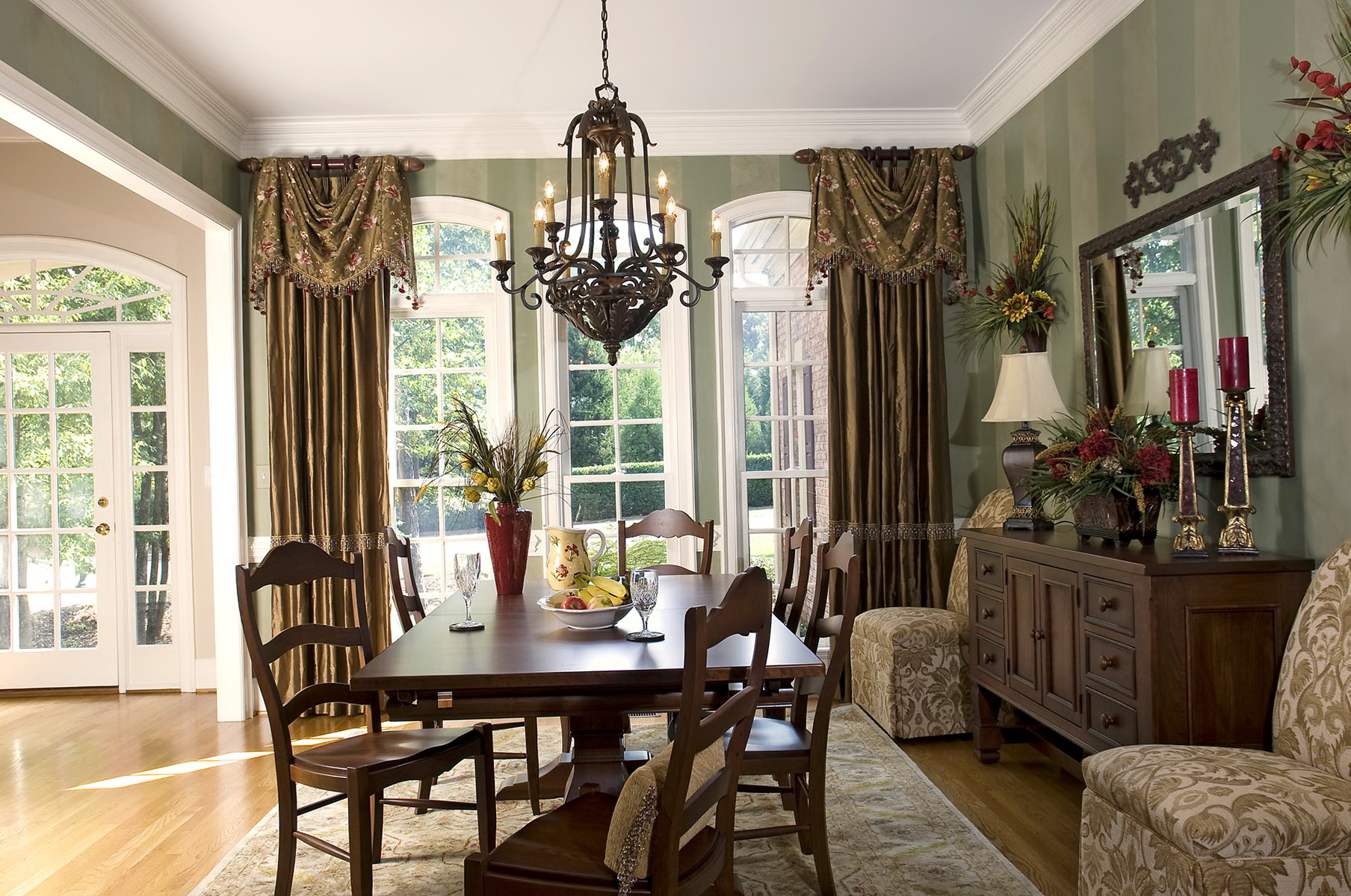Curtain Formal Curtains Dining Rooms Dining Room Curtain ... on Dining Room Curtain Ideas  id=70096