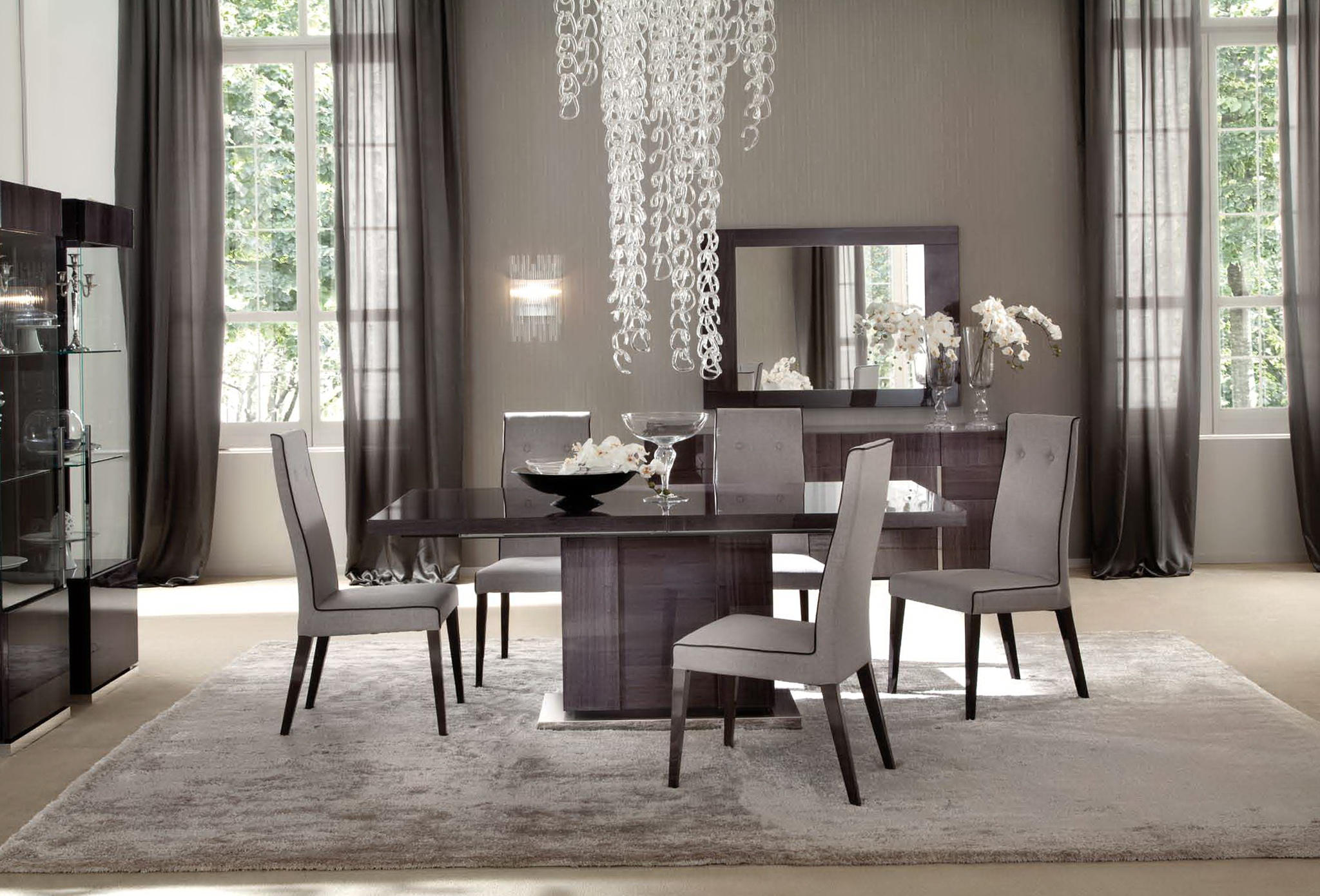 Curtains For Dining Room Ideas Chandelier Fertical Folding ... on Dining Room Curtain Ideas  id=71780