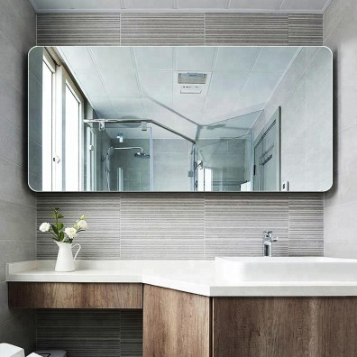 Customized Frameless Bathroom Mirror Wall Mounted Frameless Flat Bath Room Mirror Buy Frameless Bathroom Mirrorbath Room Mirrorframeless Flat in 24+ Fantastic Frameless Bathroom Mirrors