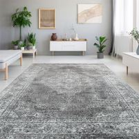 Details About Large Grey Living Room Rugs Medallion Design New Classic Modern Hallway Runners with regard to [keyword