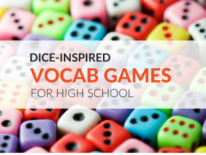 Dice Inspired Vocabulary Games For High School with regard to [keyword