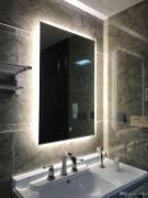 Diyhd Box Diffusers Led Backlit Bathroom Mirror Vanity Square Wall with 24+ Big Bathroom Mirror Trend In Real Interiors