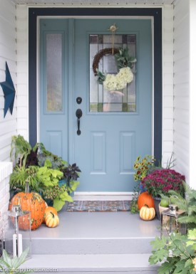 Easy Vibrant Fall Front Porch Decor The Happy Housie for [keyword