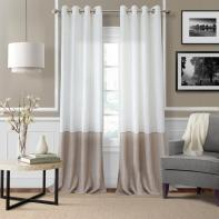 Elrene Melody Color Block Semi Sheer Window Curtain intended for [keyword