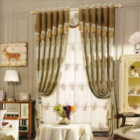Golden Leaf Pattern Living Room Curtain No Valance 2016 New Arrival Chs05251517285 with regard to ucwords]