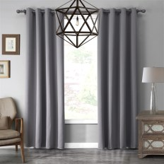 Gray Blackout Thermal Simple Bedroom Living Room Curtains Thick intended for ucwords]