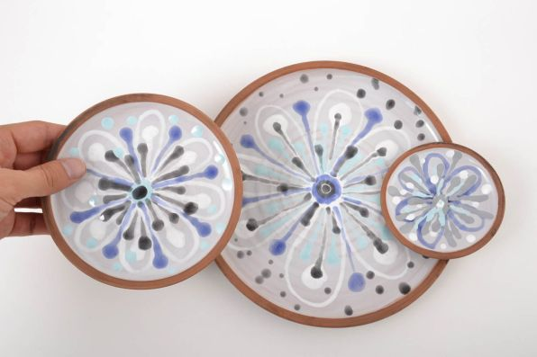 Handmade Plates Clay Plates Designer Kitchenware Handmade Pottery Decor Ideas intended for ucwords]