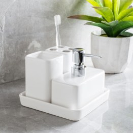 Harman Elements Bath Accessories White Set Of 4 within 20+ Funky Bathroom Accessories Set