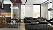 Modern Kitchen Living Rooms Delightful Examples Of Correct Design in ucwords]
