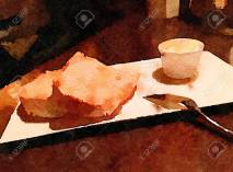 Nice Painting Of A Simple Subject Of Bread And Butter inside [keyword