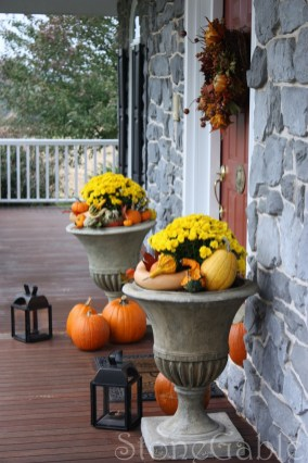 Outdoor Fall Decor Stonegable within [keyword