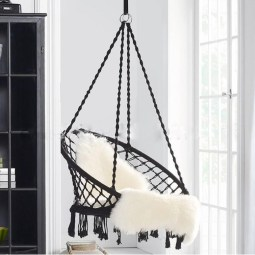Outdoor Hanging Hammock Woven Rope Chair Seat Indoor Bedroom intended for 14+ Awesome Indoor Hammock Ideas For A Lazy Sunday Morning