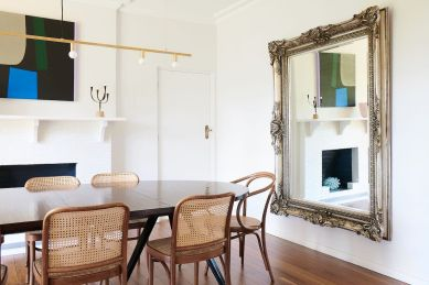 Oversized Mirror In Dining Room Style Curator regarding ucwords]