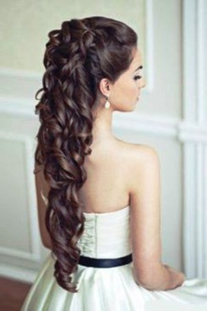 Photo Gallery Of Hairstyles For Long Hair For A Wedding Party inside [keyword