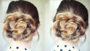 Quick And Easy Flower Bun Hairstyle School Hairstyles in 23+ Outstanding Flower Hairstyles
