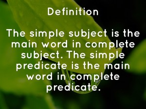 Simple Subjects And Predicates Nms6thgradela pertaining to ucwords]