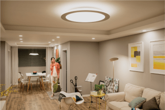 Stylish Living Room Lighting Ideas Meethue Philips Hue intended for ucwords]