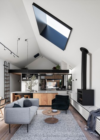 This House Addition Included A Vaulted Ceiling To Create throughout ucwords]