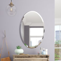 Thornbury Oval Bevel Frameless Wall Mirror within [keyword