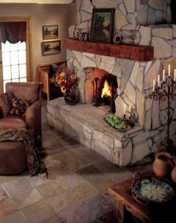 Tile Rustic Farmhouse Living Room Flooring Designs with regard to 14+ Attractive Tile Living Room