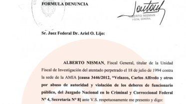 Denuncia completa Fiscal Nisman para la causa AMIA