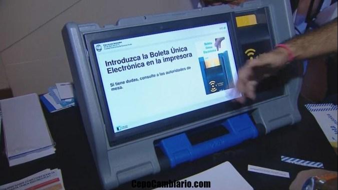Voté Electónico y tarde menos de 45 segundos!