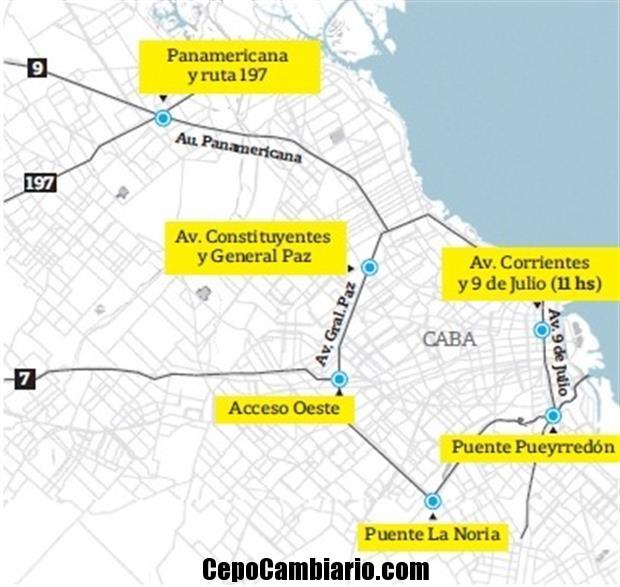 Consultá el mapa del transito en la Ciudad de Buenos Aires