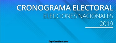 Cronograma electoral 2019, cuando y donde se vota este año?