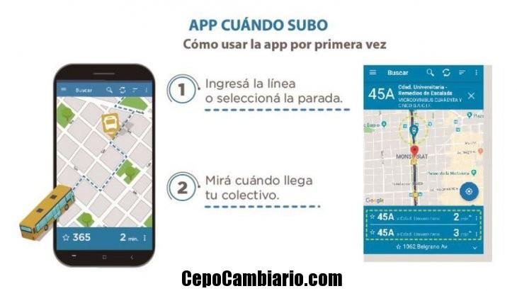 Cuándo SUBO, la app para saber a qué hora viene el colectivo