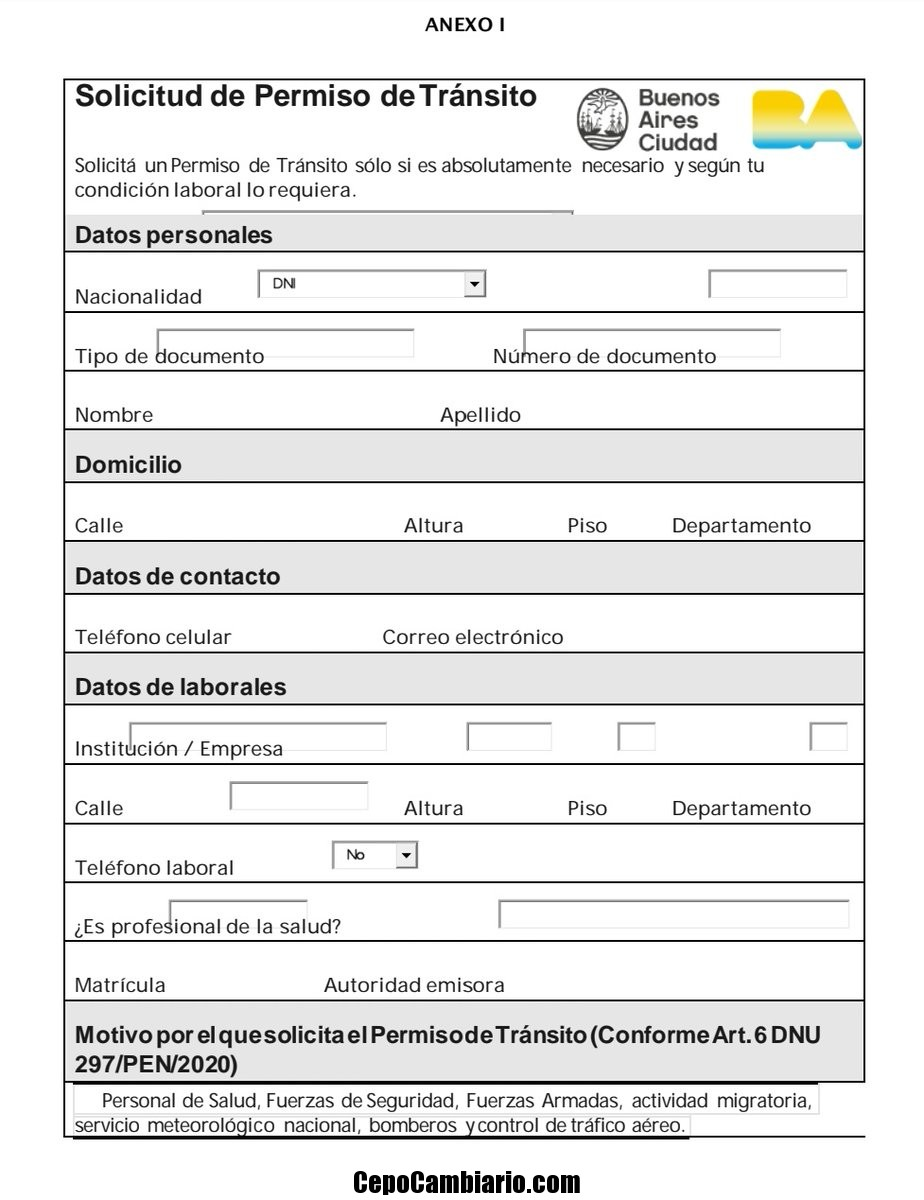 Cómo es el trámite online para obtener el permiso para circular en cuarentena y quiénes pueden pedirlo