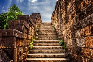 stairs, stone, gradually