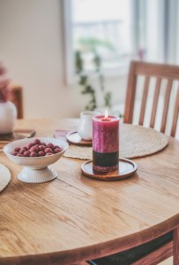 table, candle, decoration