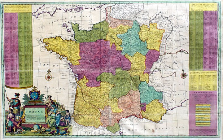 Map of France       c  1715 Moll  M 12639     1 750 00   Antique     Map of France       c