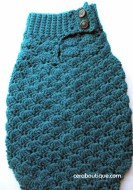 Mermaid Tail Cocoon Teal - Cera Boutique