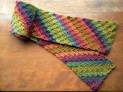 Unforgettable Crochet Scarf Diagonal Stripe - Cera Boutique
