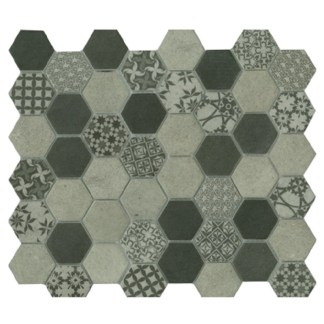 Signature Hexagon Concrete Satin 45x52mm