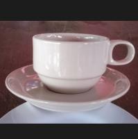 ชุดแก้วกาแฟสีครีม