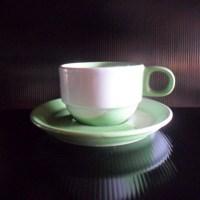 ชุดกาแฟ 200 cc. ทูโทนเขียว