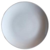 จานใบบัว 10.5 นิ้ว สีขาว