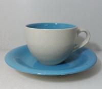 ชุดกาแฟจานรอง-ฟ้าครีม