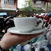 ชุดกาแฟจานรองสีขาว 5 ออนซ์