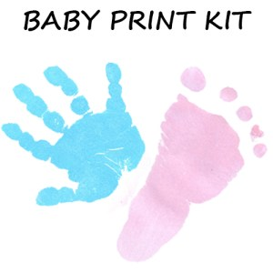 Baby Print kit available in pink or blue