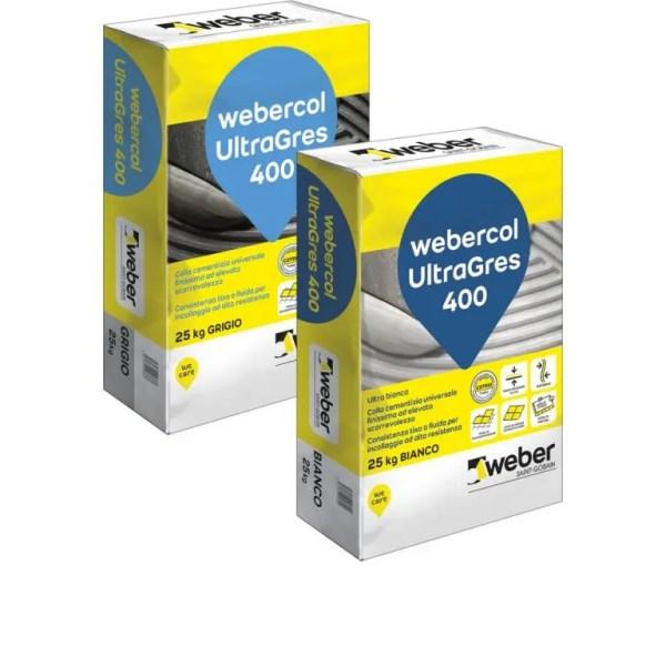 Webercol Progess UltraGres 400 Colla per Gres Grigia