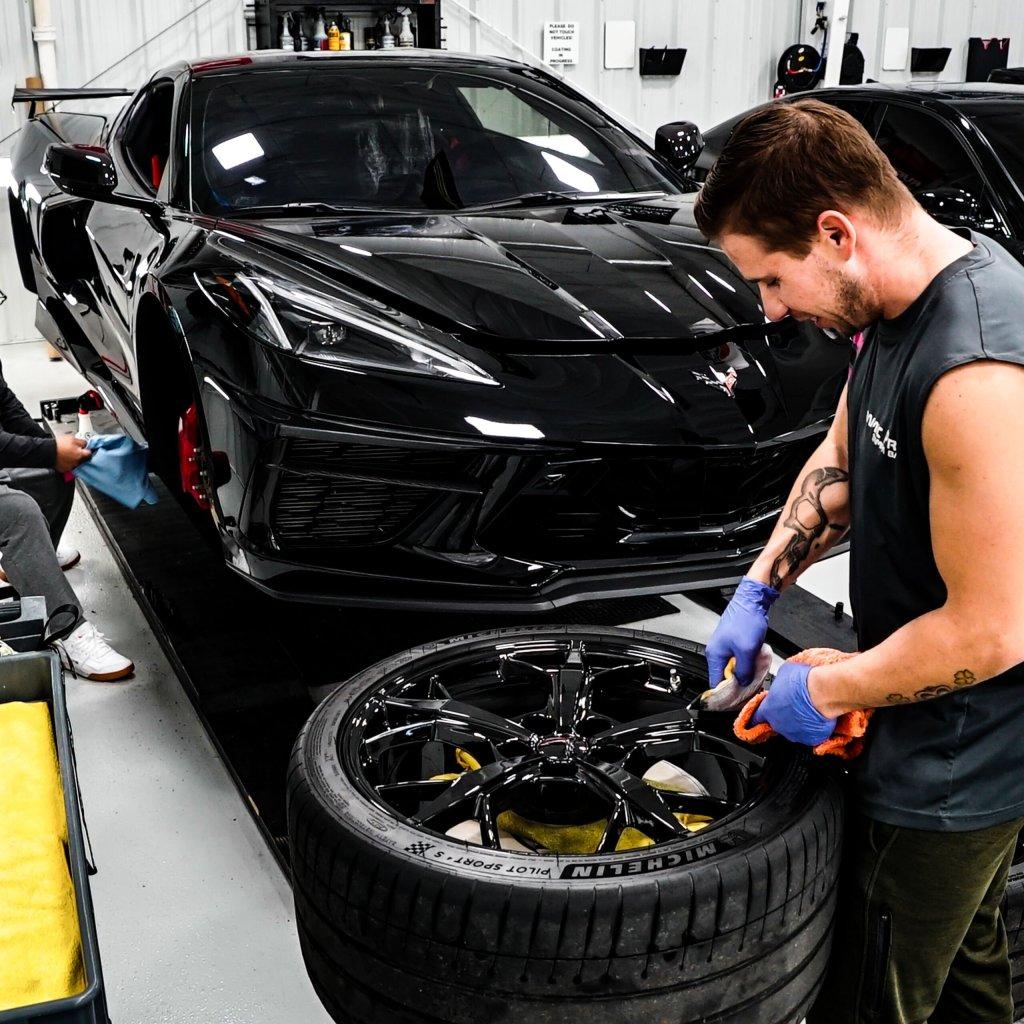 corvette wheels powder coat best auto detailing near me clear bra protection film 33714