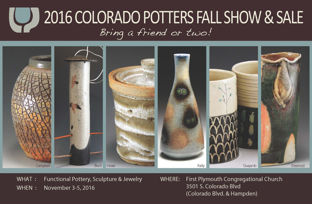 Colorado Potters Guild Fall 2016 Postcard